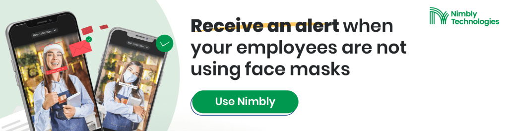 Reopening Restaurants, Employees are not using face masks Nimbly Technologies - FnB Business SOPs